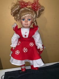 "Lollipop porcelain doll 12 1/2"" tall Jessup, 20794"