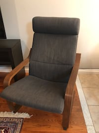 brown wooden framed gray padded armchair Newmarket, L3X 1X3