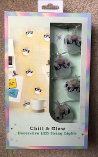 Brand new Unicorn Chill & Glow Decorative LED String Lights.(pick up only) Alexandria, 22310