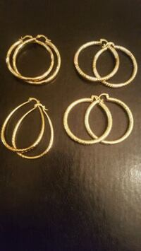New gold hoop earrings New York