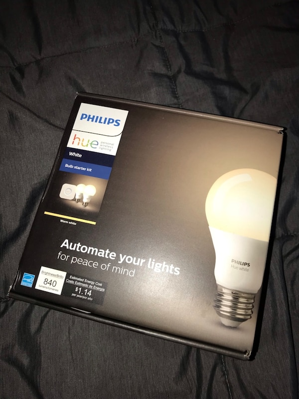 Philips Hue White Ambiance Smart Bulb Starter Kit (4 A19 Bulbs and 1 Hub  Compatible with Alexa Apple HomeKit and Google Assistant)