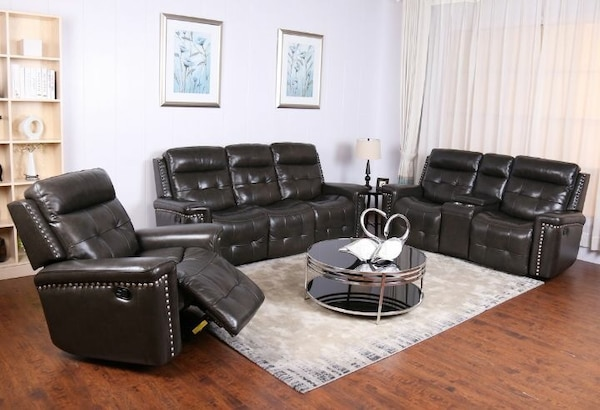 Genuine Leather Reclining Living Room