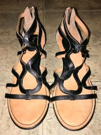 pair of black leather open toe ankle strap heels Cranston, 02920