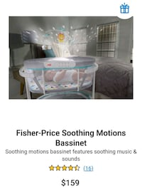 Fisher-Price Soothing Motions Bassinet (Brand New)