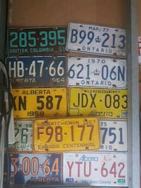 Lic plates collection  Calgary, T2C 2Z2