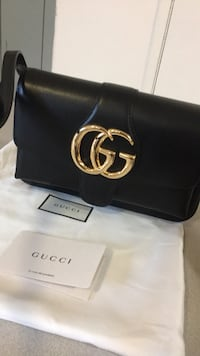 black Gucci leather belt with silver buckle New City, 10956