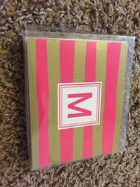 """M"" stationery with envelopes and notecards"