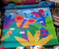 green, blue, and yellow floral textile Kitchener