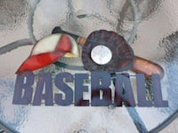 "Dimensional Metal Baseball Wall Decor..2' x 1'2"" Hanover, 17331"