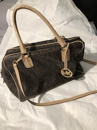 Black and brown michael kors leather tote bag Manassas