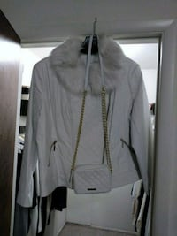 Iman women's white leather coat with purse XXXL Southfield, 48075