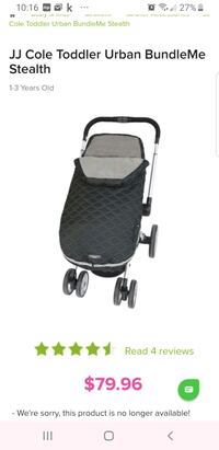 JJ Cole Toddler Urban BundleMe Stealth black & grey Brampton, L6R 1L5