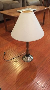 stainless steel base white shade table lamp Los Angeles, 91601