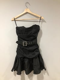 Black strapless dress size XS