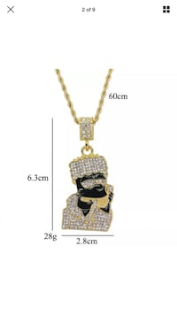 Gold-colored pendant necklace Wentzville, 63385