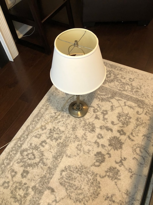 Pottery Barn library table & light