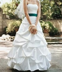 Strapless Satin Pick-up Ball Gown with Extra Lengt Woodbridge, 22193