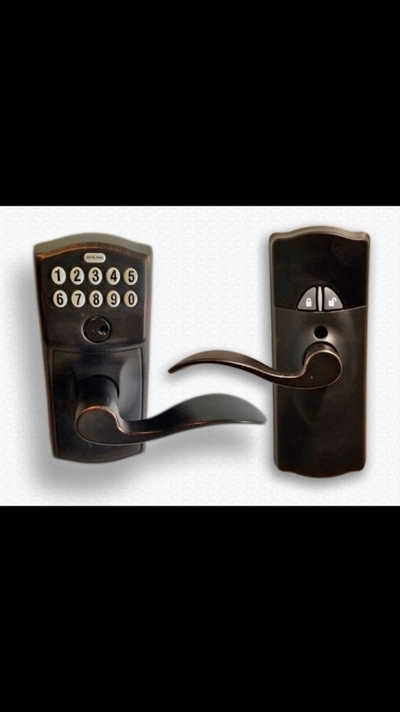 FE599NX CAM 716 ACC 716 Works with Alexa via SmartThings Schlage Z-Wave Home Keypad Lever Aged Bronze