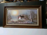 Oil Painting By H. WILSON Winter Landscape Waldorf, 20602