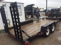 black and brown utility trailer Vaughan, L4K 5T1