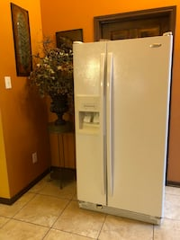 white side by side refrigerator with dispenser Houston, 77012