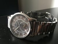 round silver-colored chronograph watch with link bracelet Ottawa, K2B 8E3