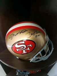 Joe Montana & Jerry Rice Autographed Helmet