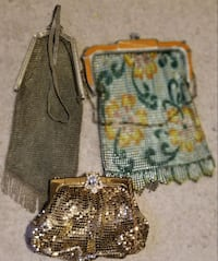 Vintage LOT of 3 Whiting and Davis Mesh Purse Hand Bags-NEVER USED