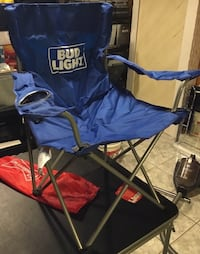 Budweiser NWT folding chair ==$10== Home and patio=sports events chair 660 mi
