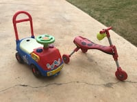 toddler's red and blue ride on toy AUSTIN