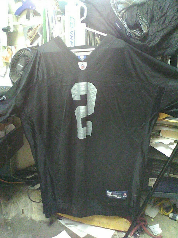fa47ec6c Oakland Raiders slightly used JaMarcus Russell 5XL Onfield Reebok NFL Jersey