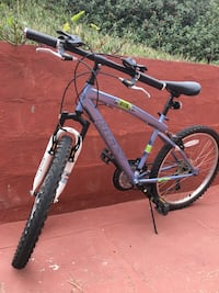 blue and white hardtail mountain bike Daly City, 94015