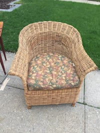 Vintage genuine Willow/ Wicker Patio Chair
