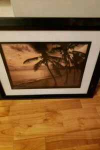 Black wooden framed painting of trees Manassas, 20109