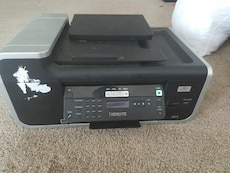 black and gray LexMark desktop printer