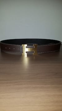 100% authentic reversible brown and black Hermes belt size: 30-38