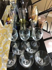 Assorted Glasses with a new shaker Mississauga, L5N 2G8