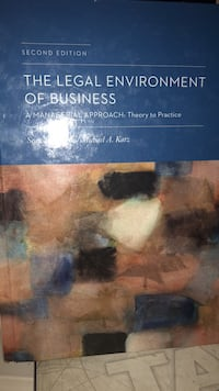 The legal environment of business-2nd edition Lawrence, 08648