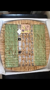 Wall Decor: New Handmade Wicker Decor in its package 20X20 inches (50X50cm) $19.99 @ HomeSense