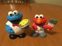 Sesame Street figures Cookie Monster and Elmo figures  Niagara Falls, L2H 1X3