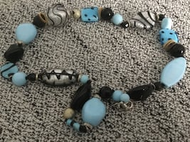 Silver and turquoise necklace