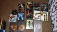 assorted titled DVD cases