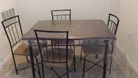Dining table with 4 chairs. Fairly new, only been used for 1 year. Laurel, 20724
