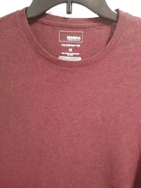 Men's M long sleeve burgundy