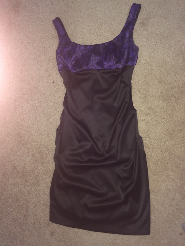 Black and purple cocktail dress a26baf75-bca3-48d7-983e-56b39a6f83c5