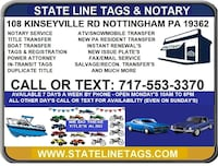 STATE LINE TAGS  Lancaster County