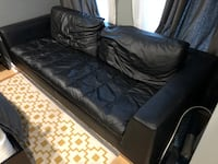 Leather Couch (Black) Washington