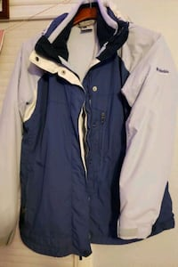 Columbia full fleece lined blue winter coat Des Moines