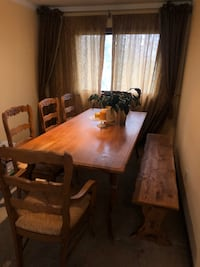 Dining Room Table with Matching Bench and 5 Chairs Minnetonka, 55345