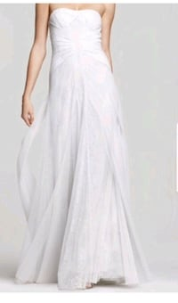 BCBGMAXAZRIA Off White / Ivory Soft Tulle and Lace Columbus, 43207
